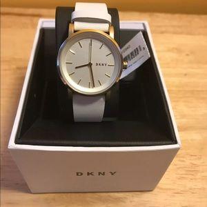 New DKNY NY2340 Leather Watch